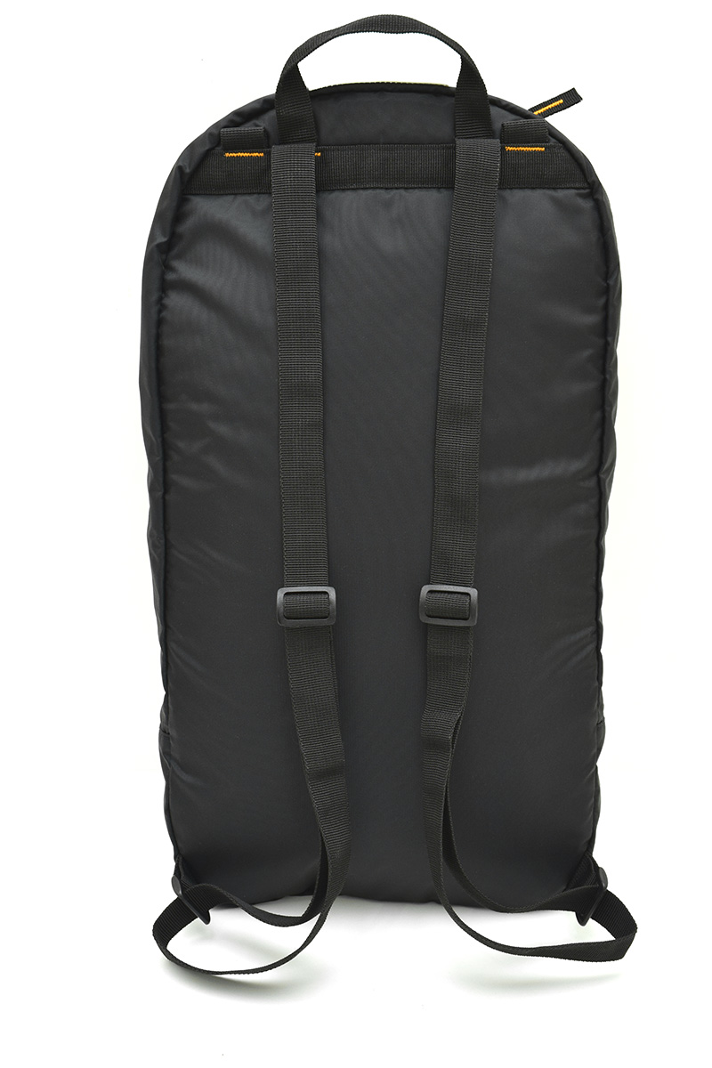 The back of the Kong Minibag, an optional backpack that can be fixed inside the bag OMNIBAG through dedicated attachments.