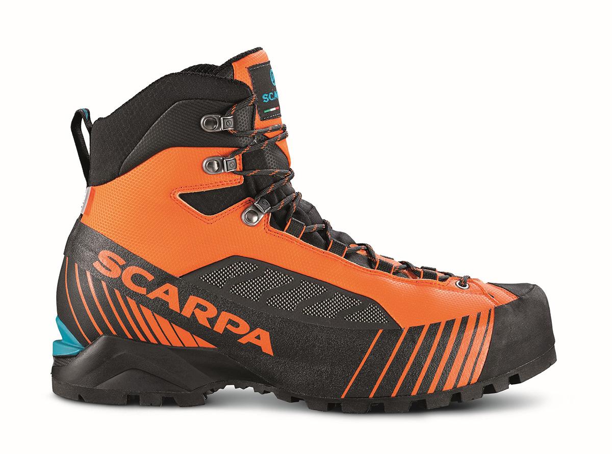 Leggeri Scarponi alpinismo Ribelle Lite OD, ideali per il trekking, vie ferrate e alpinismo classico.