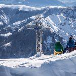 Simone Moro, Massimiliano Ossini e Lino Zani in in cima al Grignone © Juri Baruffaldi