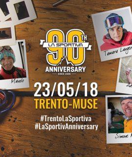 Il 23 maggio 2018 La Sportiva celebra il 90° anniversario dalla sua fondazione nel 1928 con un maxi-evento presso il parco del Muse a Trento e nel centro città.