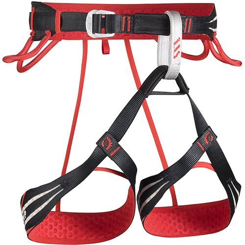 Sport climbing harness Flash by CAMP, lightweight and comfortable. A mere 235 gr light, this is designed for sport climbing at the highest level.