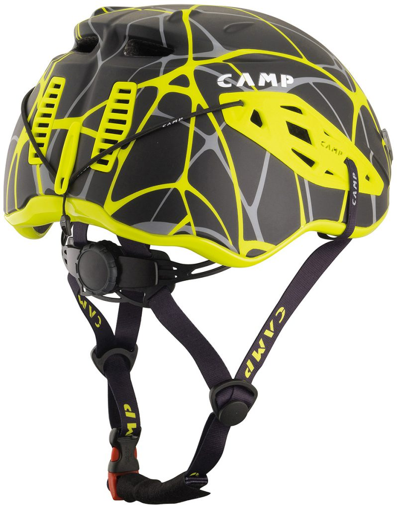 Lightweight ski mountaineering helmet Speed Comp by CAMP, with ventilation holes on the sides and back for excellent breathability