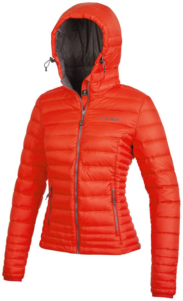 Piumino da donna ED Motion Jacket Lady di CAMP con cappuccio regolabile