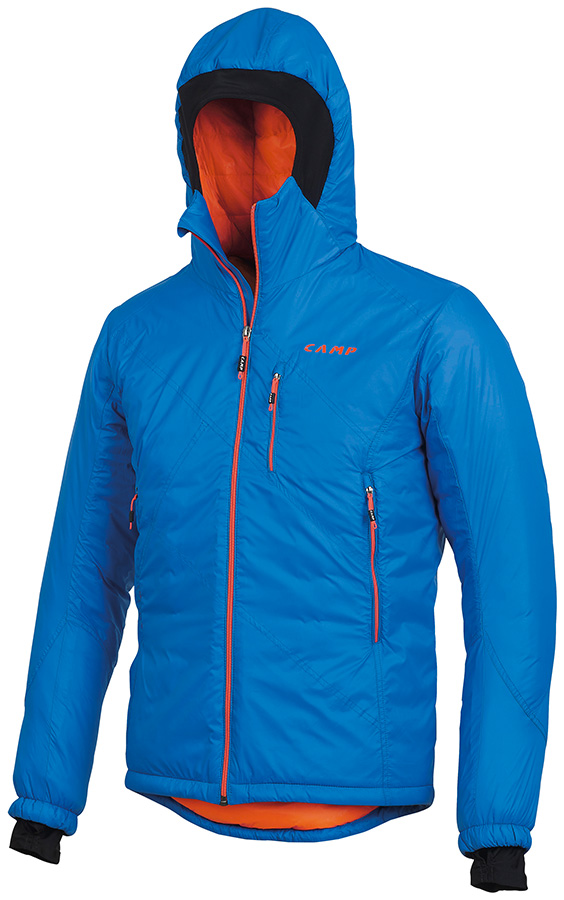Men's Climbing Jacket Blade by CAMP for alpinism and ski mountaineering with PrimaLoft insulation.