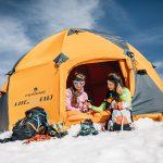 Il campo Ferrino HighLab presso il rifugio Quintino Sella al Felik, Rifugio Quintino Sella (3585 m), Monte Rosa © Federico Ravassard