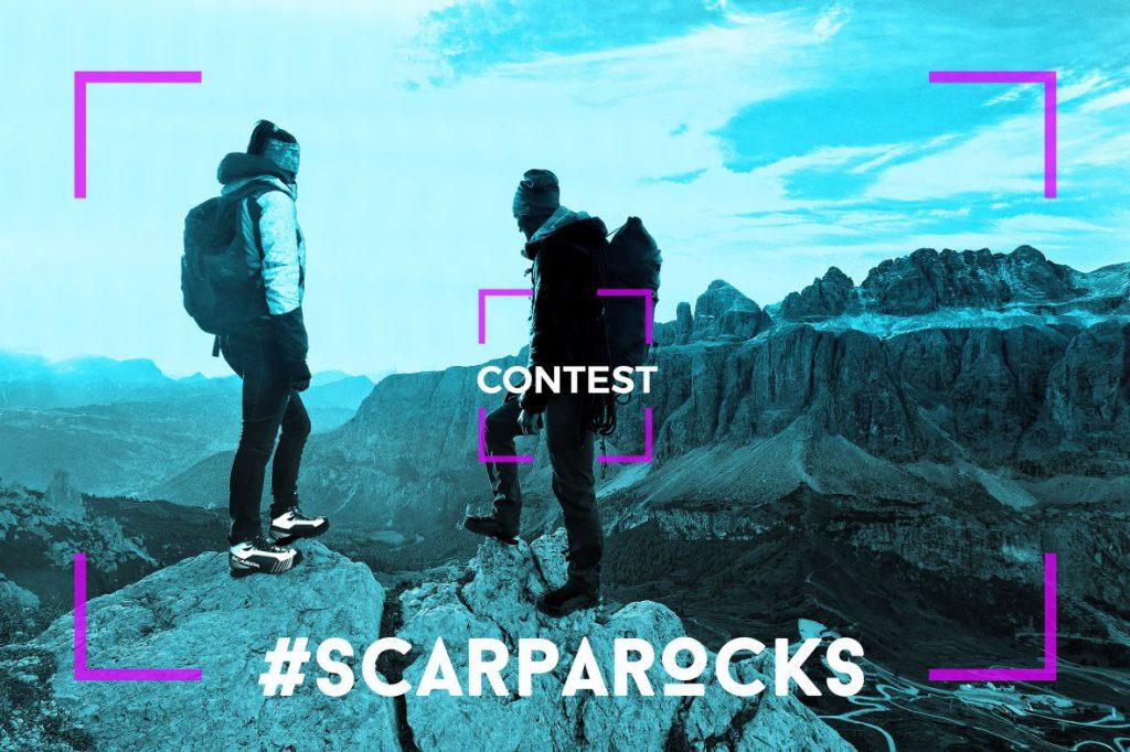 Da oggi al 30 settembre è aperto il concorso #SCARPAROCKS per vincere un'esperienza unica sulle Dolomiti: carica una foto su Scarparocks.scarpa.net, fatti votare dagli amici e partecipa all'estrazione di un trekking per due persone con le guide alpine!