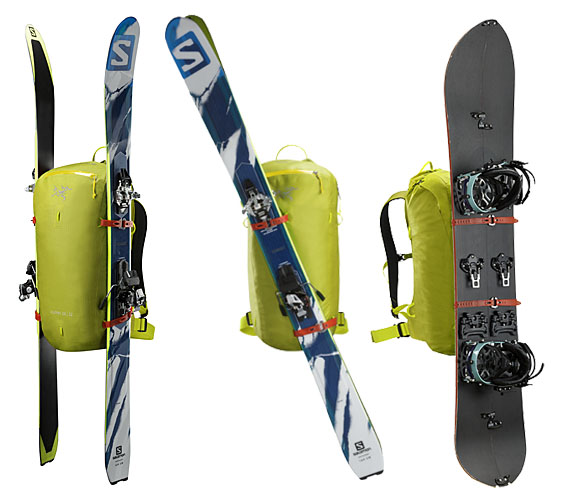 Alpha SK 32 Pack by Arc'teryx, versatile, adaptable, exceptionally weather resistant pack designed for freeride ski touring with modular ski and snowboard carry system