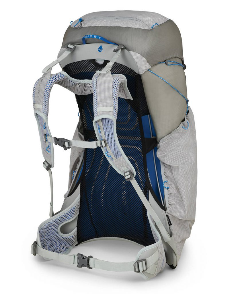 Ultra Lightweight backpack Osprey Levity 45: comfortable, supportive, ventilated and durable for walking, climbing, travels