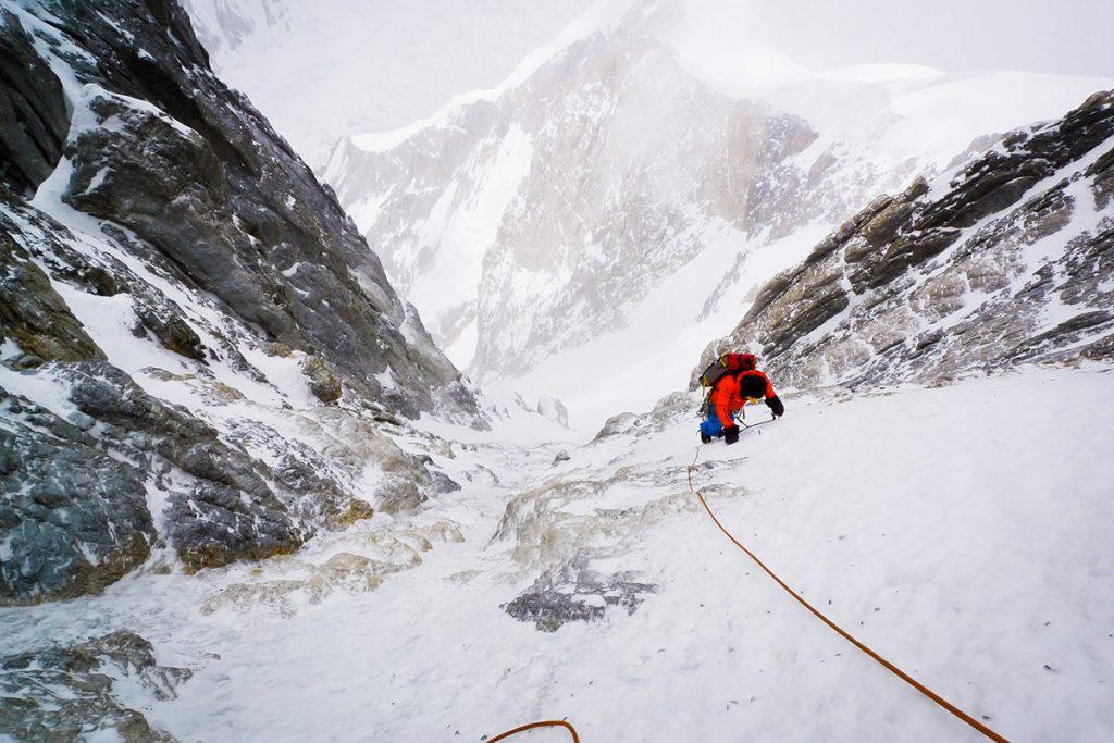 Mavrek Holecek climbing Gasherbrum I with Zdenek Hak