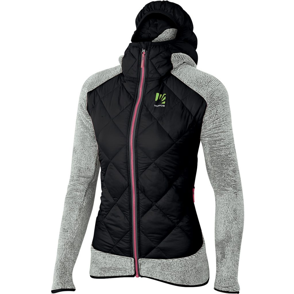 Womens insulated jacket Marmarole W Jacket by Karpos, in fleece with hood, ideal for the mountains in winter.