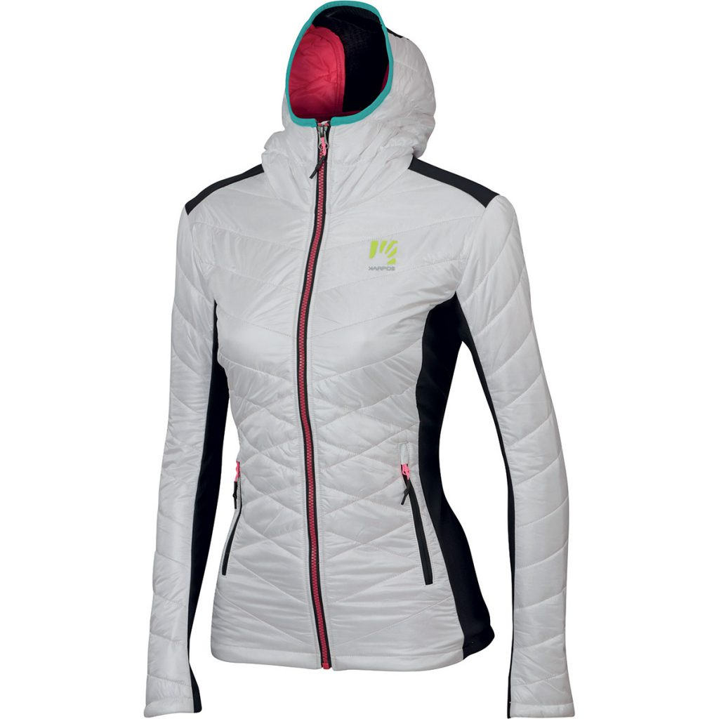 Women ski mountaineering jacket Burelon Jacket by Karpos, an excellent balance between warmth, breathability and wind protection.