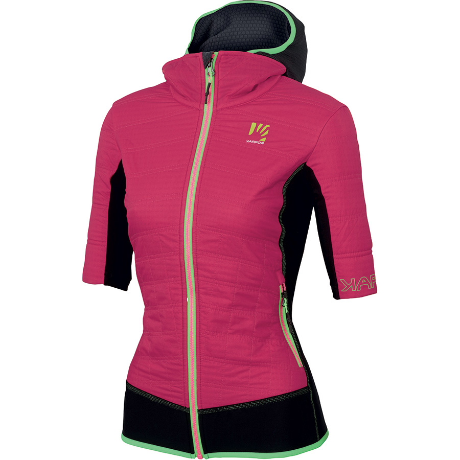 Womens insulated jacket Alagna Plus W Puffy by Karpos for all mountain sports such as climbing, alpinism, ski touring.