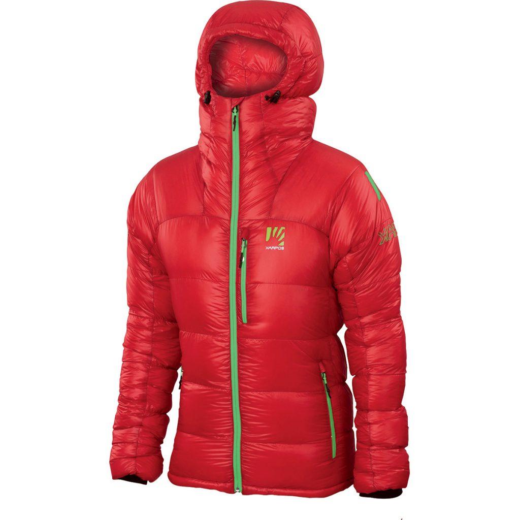 Piumino alpinismo K-Performance Summit Down Jacket di Karpos, calda e leggera, da utilizzare nelle condizioni più difficili di qualsiasi montagna al mondo.