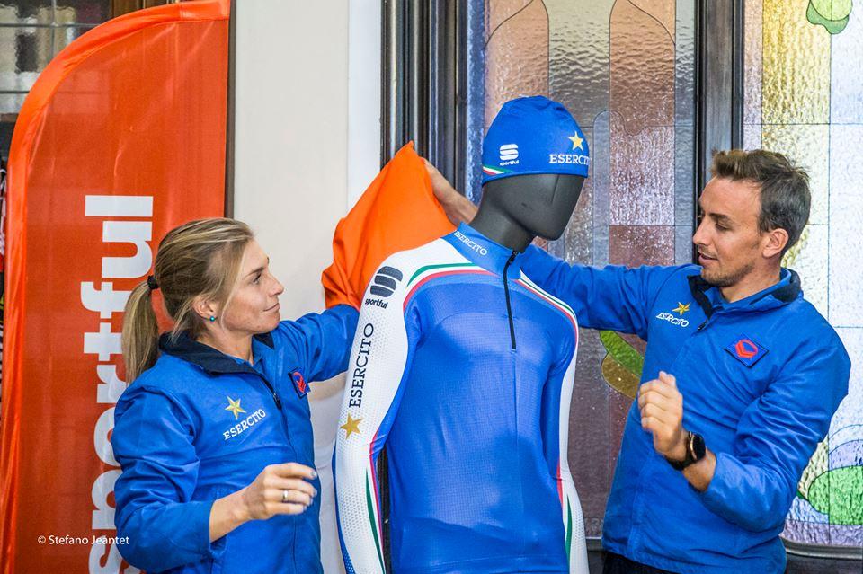 La nuova linea tecnica KARPOS per lo sci Alpinismo. Elisa Brocard e Francesco Defabiani © Stefano Jeantet