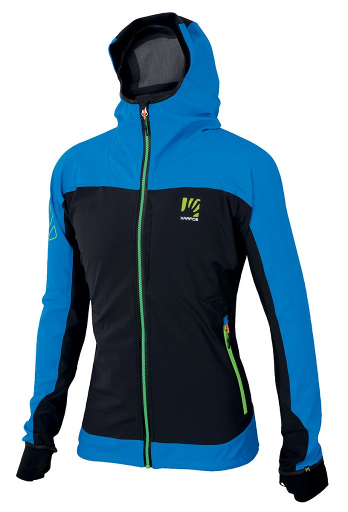 Womens alpine jacket Jorasses WS Jacket by Karpos, optimal Goretex protection, ideal for ice climbing, winter mountaineering, ski touring.