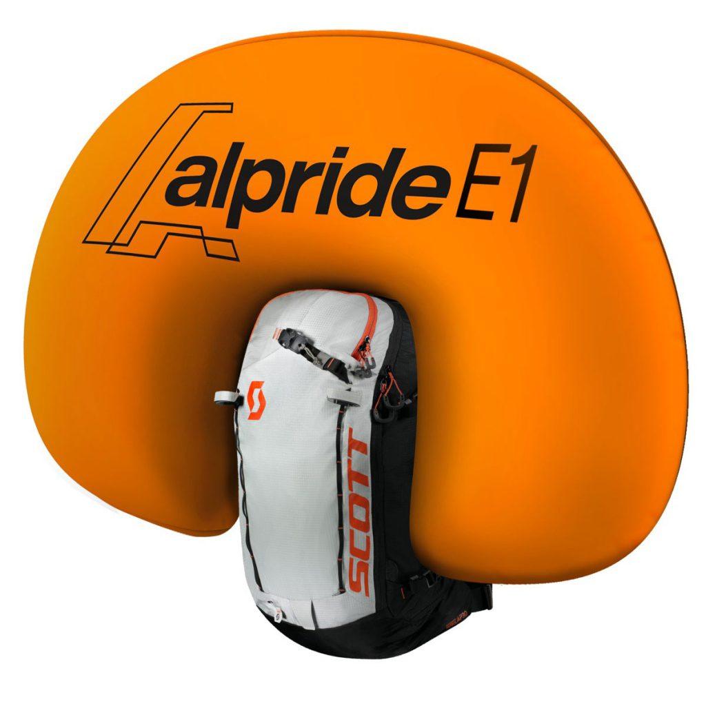 Lo zaino antivalanga Alpride E1 è l'ultima proposta di zainiairbag di SCOTT con l'innovativo sistema elettrico Alpride E1.