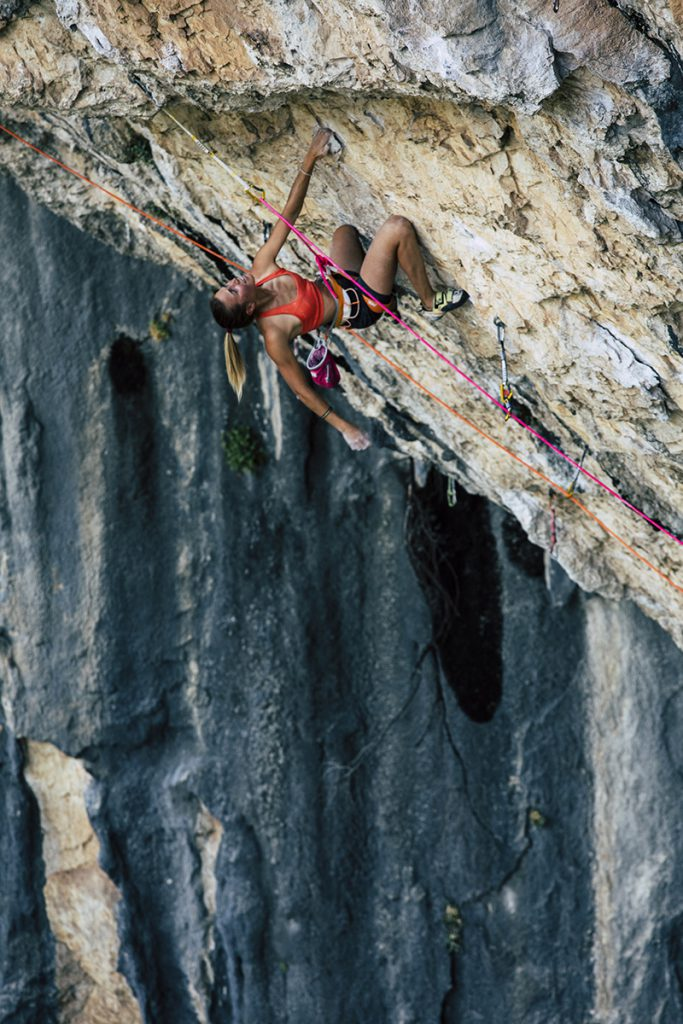 Federica Mingolla at the La Sportiva climbing meeting at Rodellar in Spain from 21 - 23 September 2018