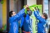 La nuova linea tecnica KARPOS per lo sci Alpinismo. Dalla sx: Robert Antonioli e Alba De Silvestro © Stefano Jeantet