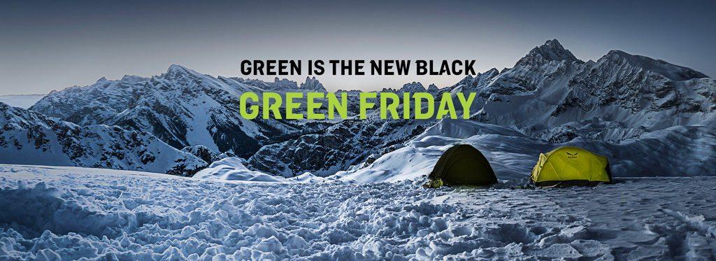 Salewa trasforma Black Friday in Green Friday. 10% del fatturato online dal 23 - 26/11/2018 verrà donato alla organizzazione non-profit Protect Our Winters.