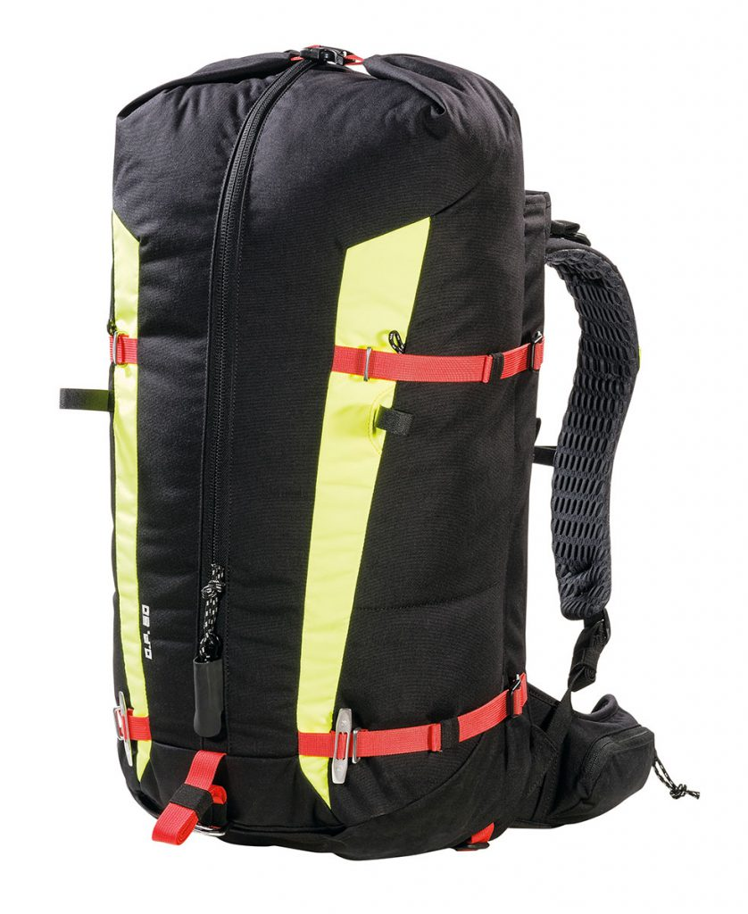 The OP 50 is a mountaineering backpack designed to carry rescue equipment and perfect for use over any mountain terrain.