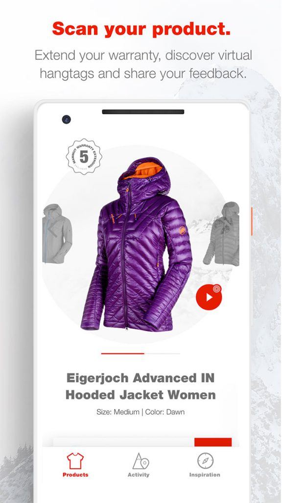 With its Mammut Connect the Swiss company launches first products with NFC technology in the outdoors