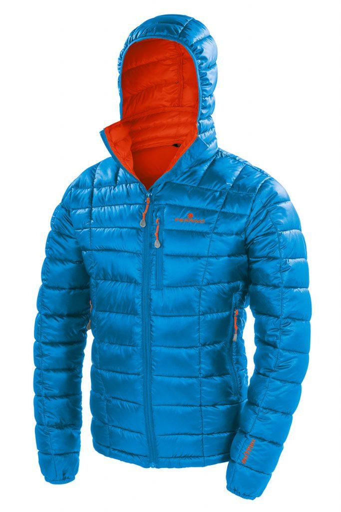 Giacca alpinismo uomo Viedma Jacket di Ferrino, con l'innovativa imbottitura PrimaLoft® Gold, simili alla piuma, per la montagna in ogni stagione.
