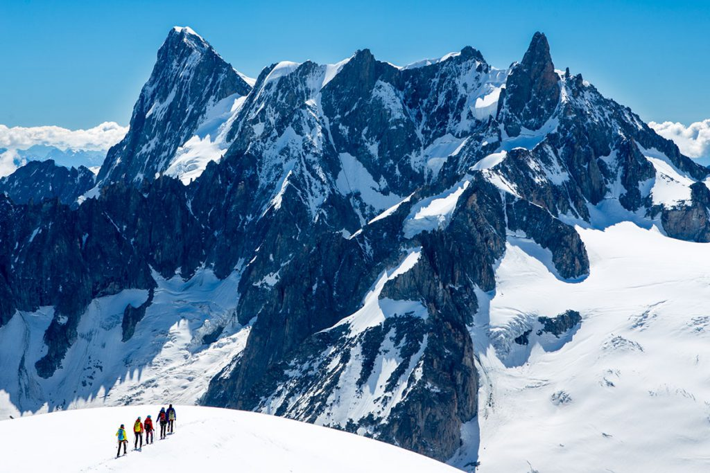 Arc'teryx Alpine Academy at Chamonix from 4-7 July 2019: for climbers of all abilities to learn more about climbing and alpinism directly on Mont Blanc.