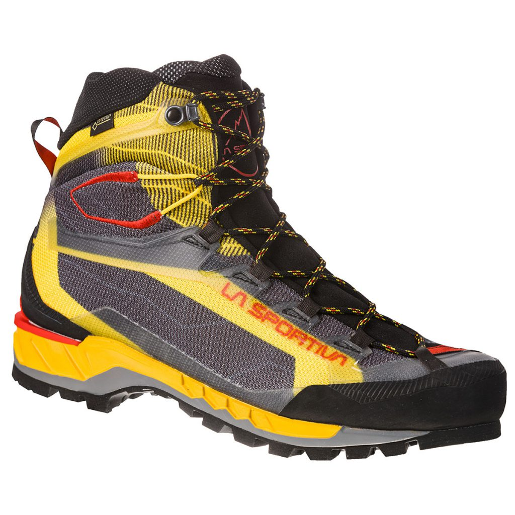 Waterproof hiking boots Trango Tech GTX by La Sportiva: lightweight and flexible with Vibram sole and Goretex liner, ideal for alpine trekking