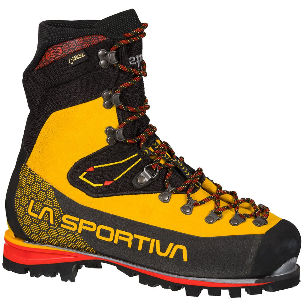 Lightweight mountaineering boots Nepal Cube GTX by La Sportiva: technical, high altitude climbing boots and climbing with crampons on mixed terrain.