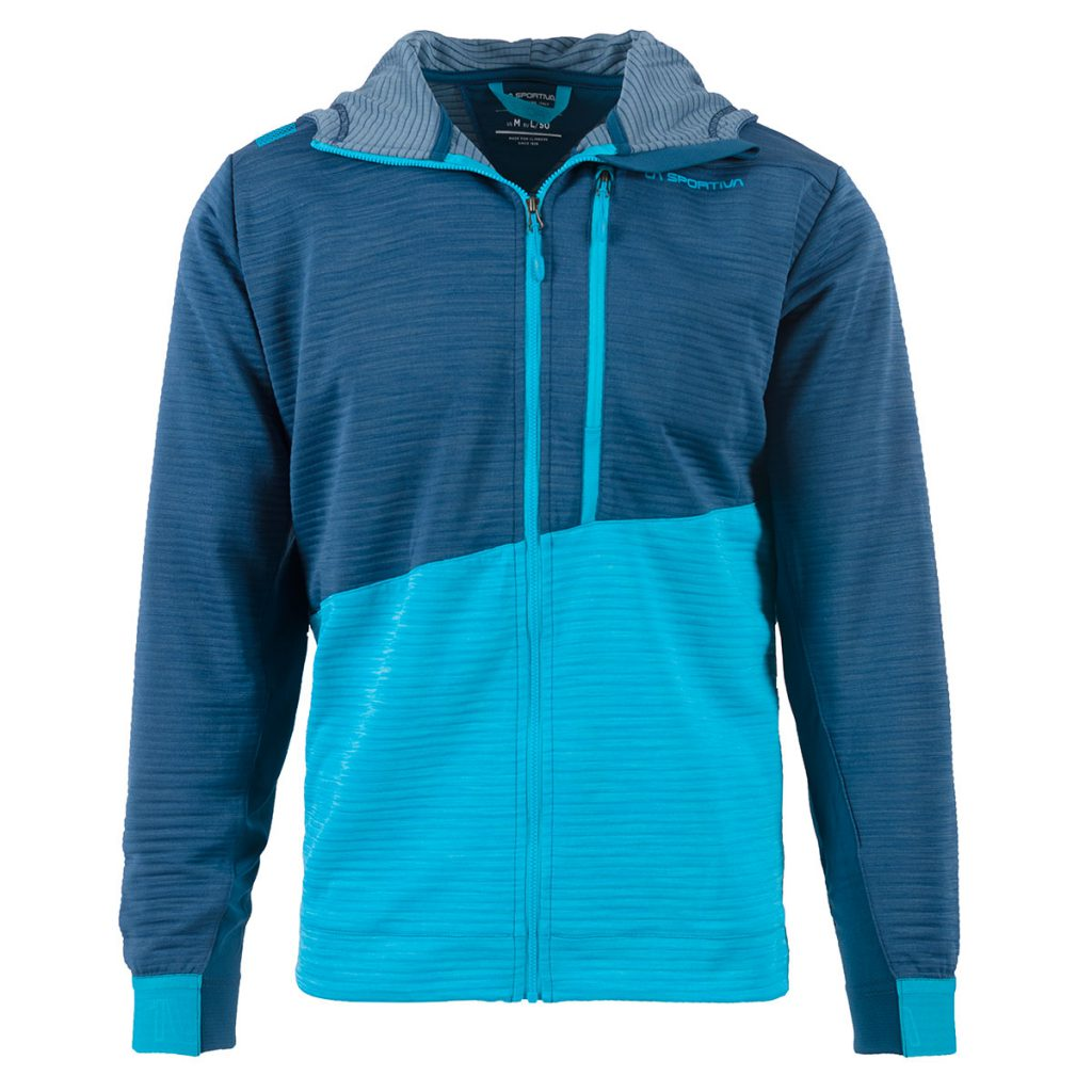 Mens climbing hoody La Sportiva Training Day Hoody M, a lightweight, functional and cool looking garmet for training indoors and climbing outdoors.