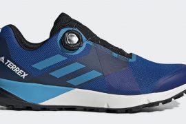 Scarpe adidas Terrex Two Boa con Sistema Boa Fit da trail running correre in montagna. Il Boa Closure System consente di indossare e sfilare le scarpe con facilità