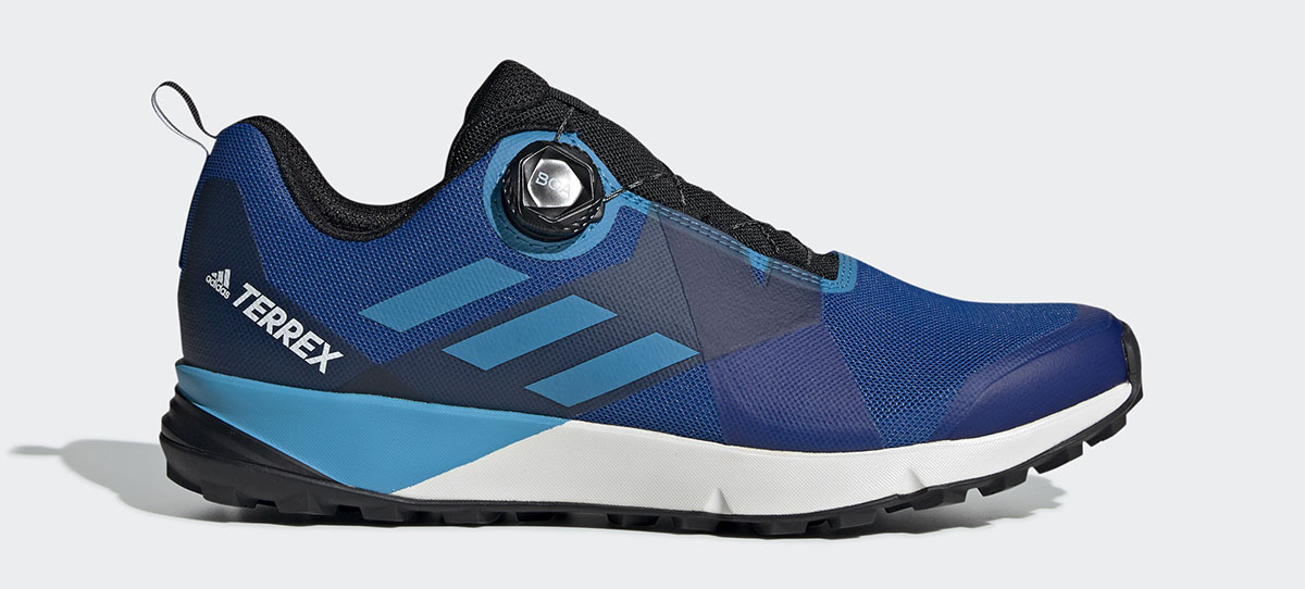 adidas shoes Terrex Two Boa with Boa Fit System for trail running.
