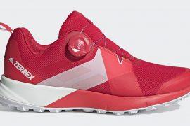Scarpe da donna adidas Terrex Two Boa con Sistema Boa Fit da trail running. Il Boa Closure System consente di indossare e sfilare le scarpe con facilità