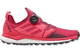 Scarpe adidas donna con Sistema Boa Fit da trail running correre in montagna. Il Boa Closure System consente di indossare e sfilare le scarpe con facilità