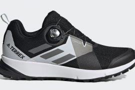 Scarpe adidas Terrex Two Boa con Sistema Boa Fit da trail running. Il Boa Closure System consente di indossare e sfilare le scarpe con facilità