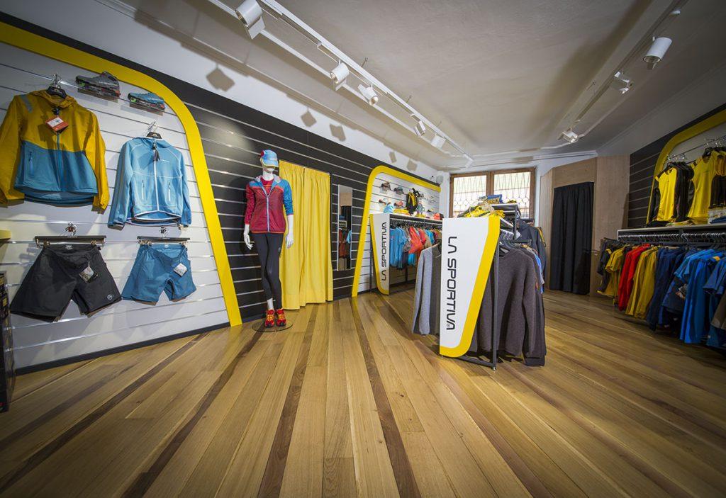 La Sportiva brand stores at Trento, Pozza di Fassa, Ziano di Fiemme, Cavalese, Arco, Finale Ligure, Rodellar (Spain) and Mexico City