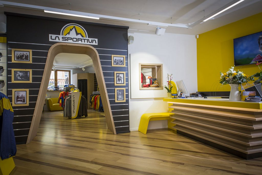 The La Sportiva Trento store opens officially the first week of April and will be followed the week after by the opening of the Pozza di Fassa store.