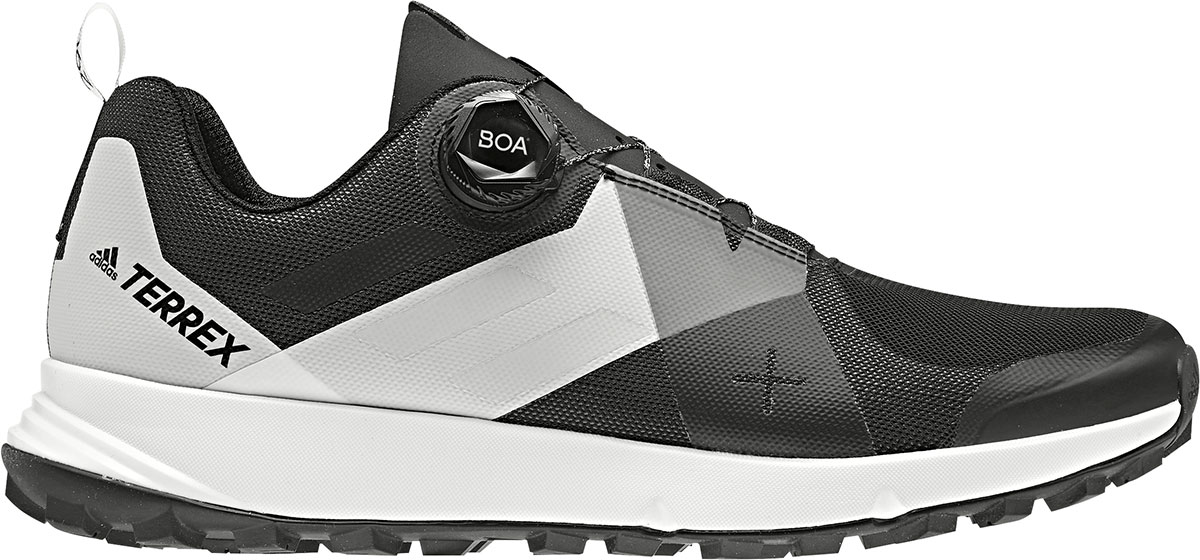 adidas shoes Terrex Two Boa with Boa Fit System for trail running. The A Boa Closure System adds unmatched adjustability and security for rigorous trail use