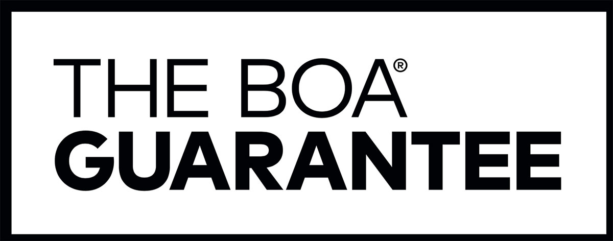 The Boa Guarantee - our dials and laces are covered for the lifetime of the product on which they are featured.
