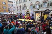 Durante la inaugurazione ufficiale del La Sportiva store a Trento