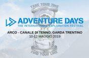 Adventure Days, il festival internazionale dell'esplorazione, torna dal 10 al 12 maggio 2019 in Garda Trentino