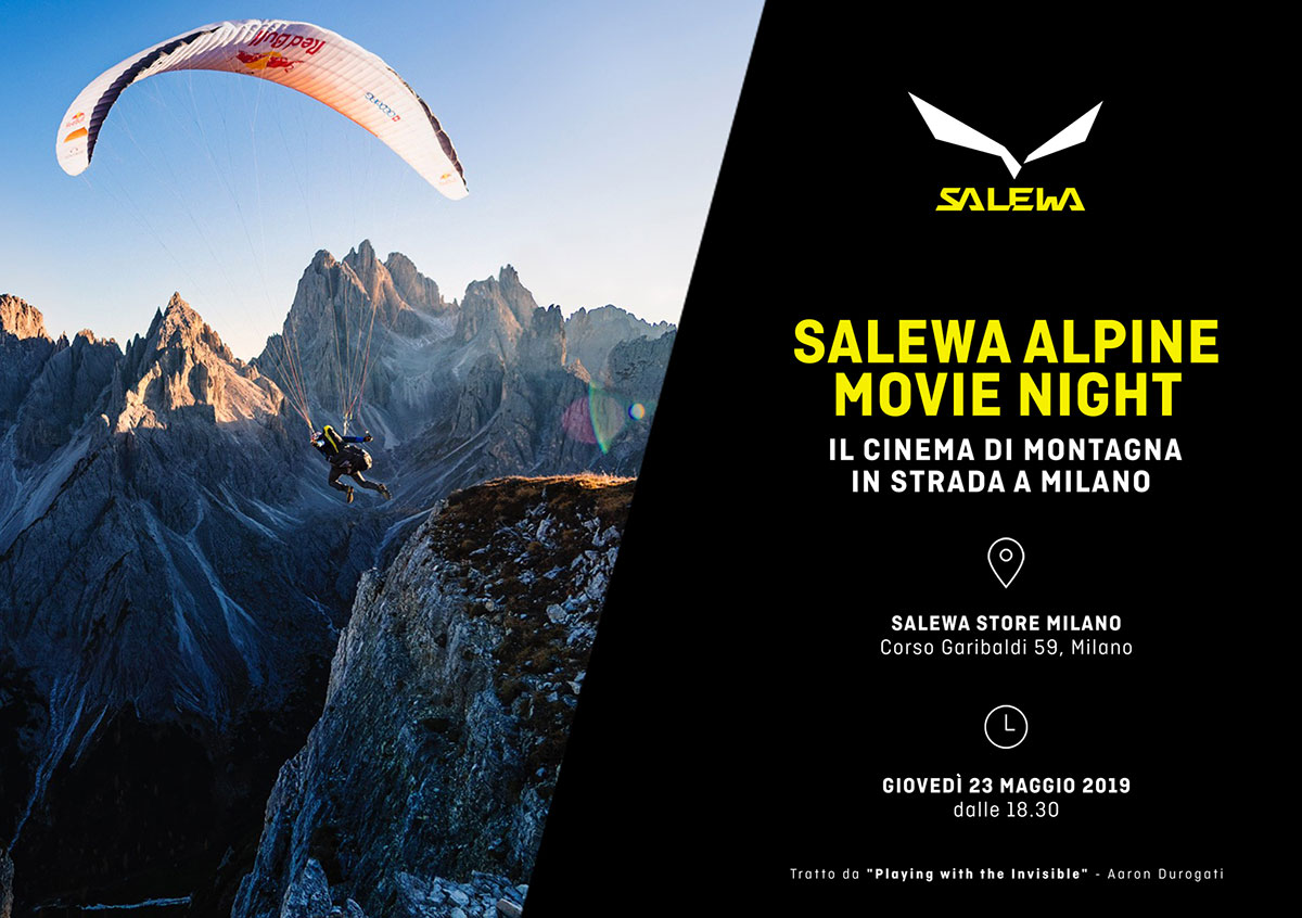 Salewa Alpine Movie Night porta il cinema di montagna in strada a Milano il 23 maggio