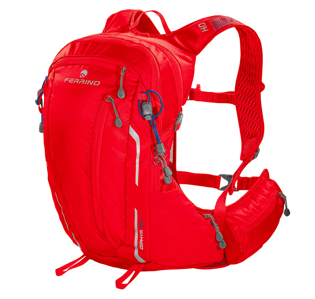 Zephyr running and hiking backpack by Ferrino: a perfect multi-sport rucksack versatile and resistant, with numerous pockets and compartments