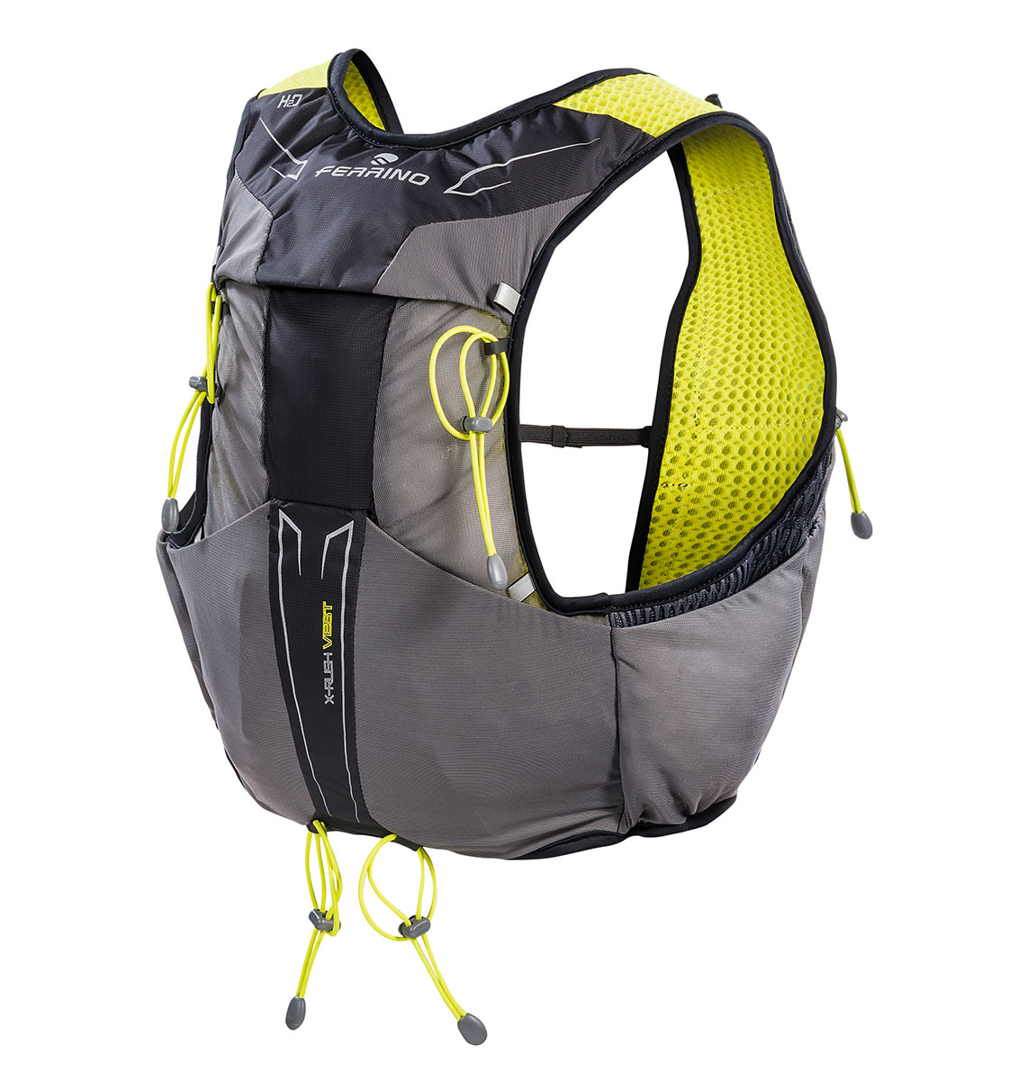 Trail running backpack X-Rush Vest by Ferrino completes its range of trail running backpacks to satisfy the athletes in their most extreme races.