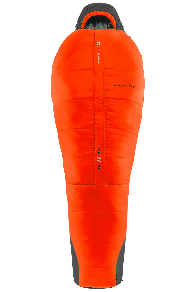 Synthetic sleeping bag Ferrino High Lab Mystic with microfiber filling, extremely lightweight with an adjustable and enveloping hood