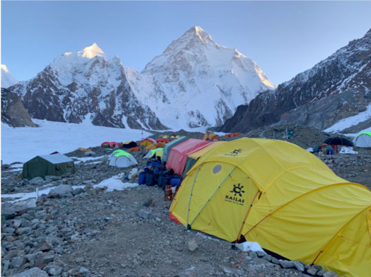 Il K2 visto dal Campo Base del Broad Peak