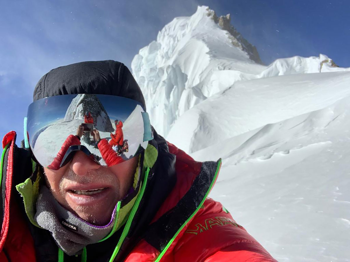 Max Berger poco sotto la cima del Broad Peak
