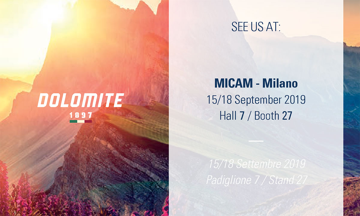 Le calzature Dolomite arrivano al MICAM: rivisto il concept della fiera l'azienda decide di partecipare con le nuove proposte per la prossima Spring summer.
