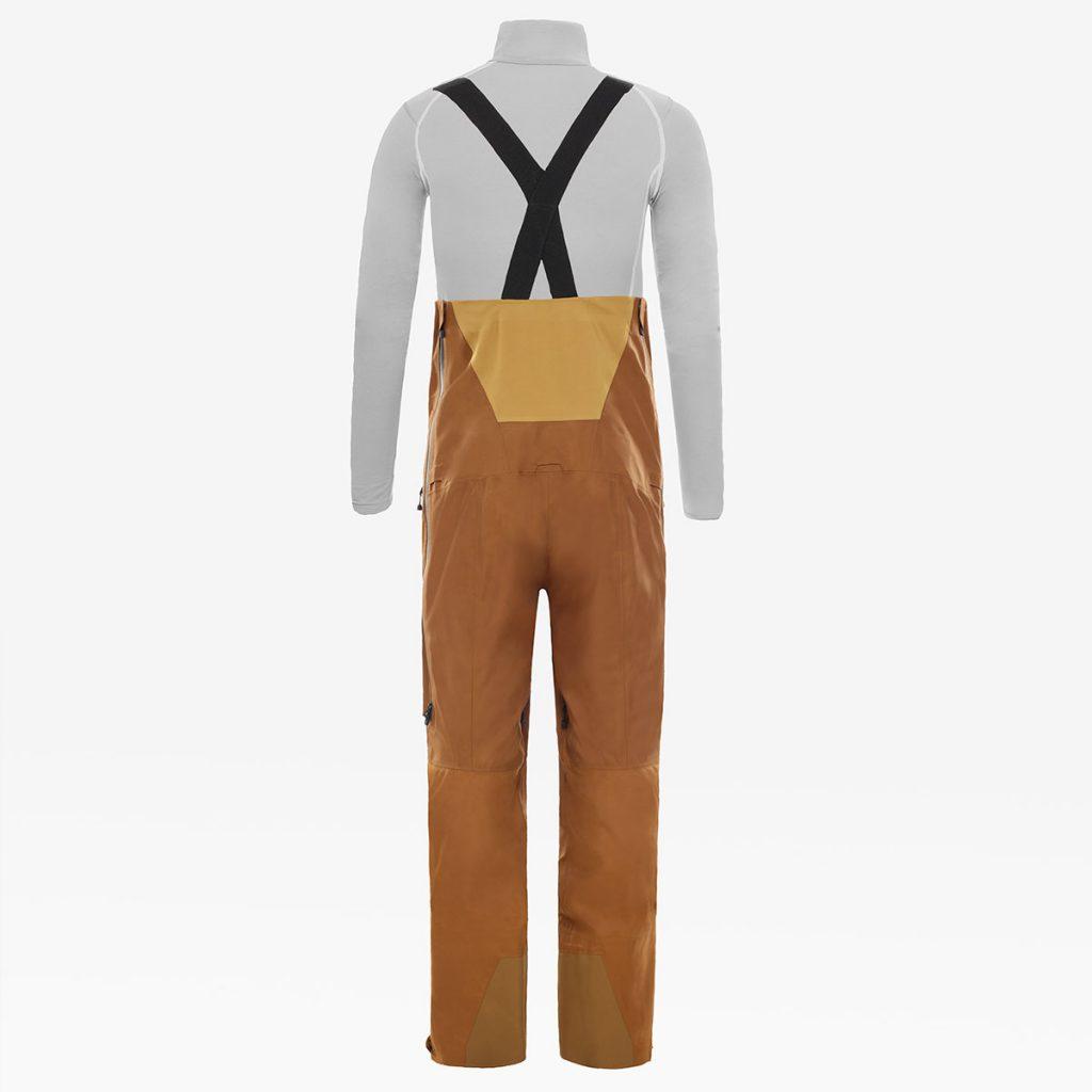 Pantaloni da sci Salopette Uomo Brigandine The North Face in tessuto Futurelight, il nuovo e rivoluzionario materiale traspirante ed impermeabile.