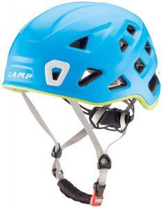 CAMP Storm: casco arrampicata al top di gamma, superleggero ed estremamente confortevole, che assicura una protezione completa in tutte le attività verticali.